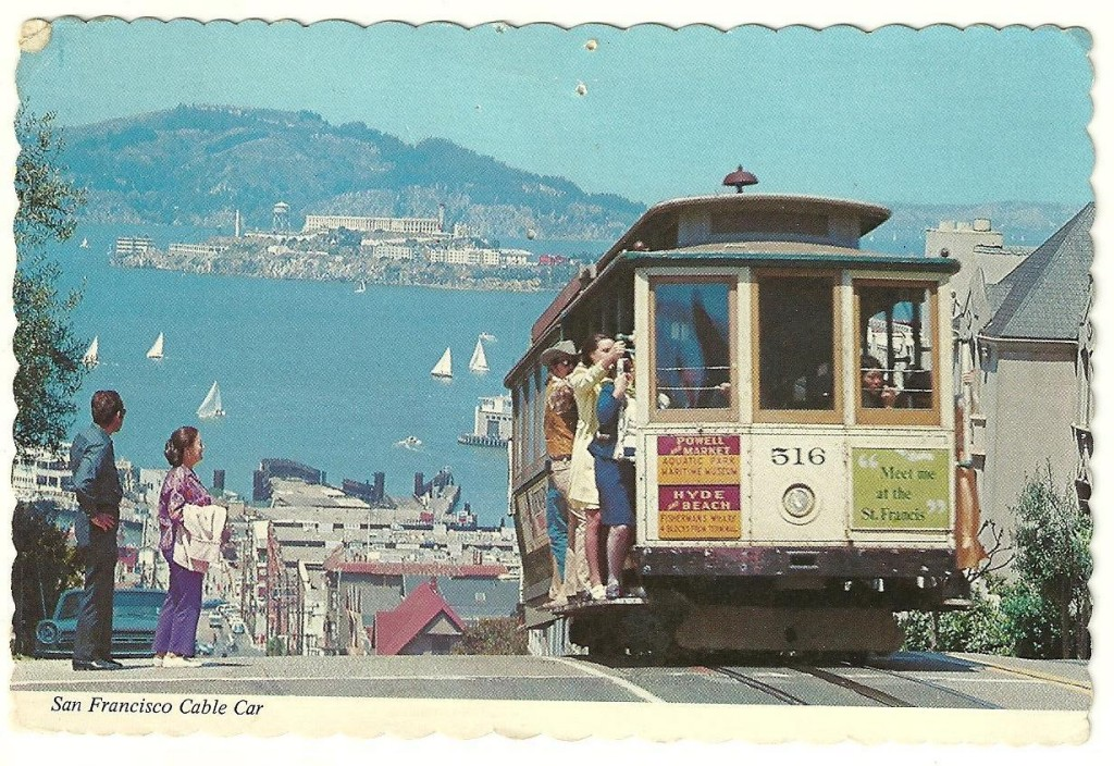 Postcard from San Francisco, with cable cars